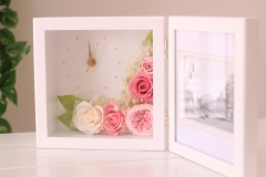 flower-factories-flowerclockwithphotoframe